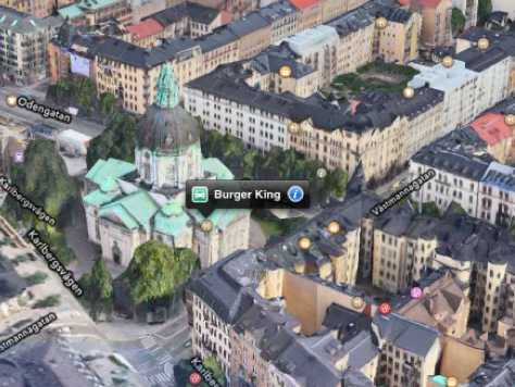 apple maps puts burger king in the wrong place