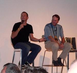 Lance Armstrong and John Burke