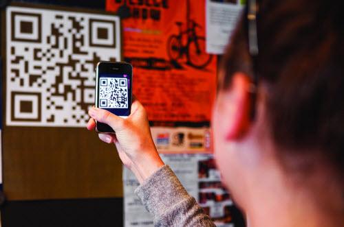 scanning a QR code