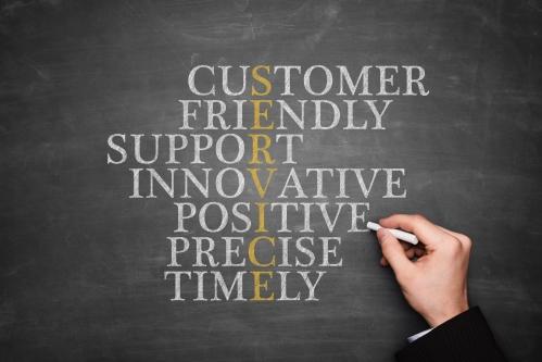 customer service image on blackboard
