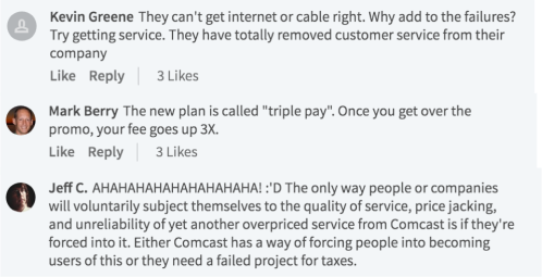 Comcast New Product Intro Reaction